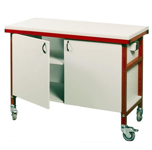 BIOLAB Table Roulante Placard Dessus M Lamin